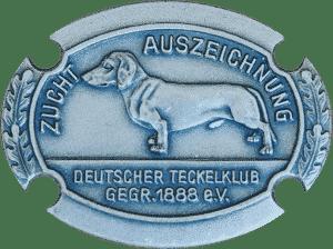 Zuchtauszeichnung in Silber (Deutscher Teckelklub 1888 e.V.) | Dackelzucht Botzensteiners | Hanns-Joachim Botz und Jochen Steinert | Biesenthal bei Berlin