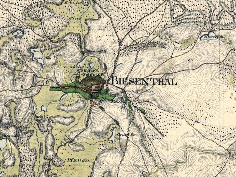 Historische Karte - Biesenthal