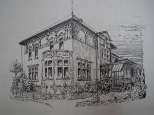 Südostansicht Villa Benda um 1910