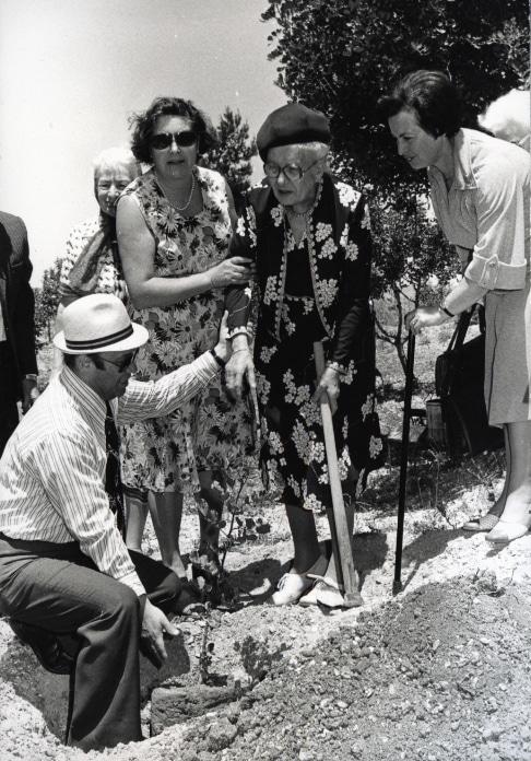 Baumpflanzungszeremonie zu Ehren von Hendrik und Margarete Pouw. Yad Vashem. 02.05.1978 - Quelle: The Righteous Among The Nations