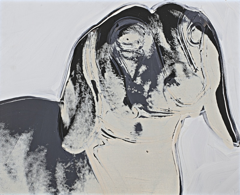 Cats and Dogs (Archie), 1976 Acrylic and silkscreen ink on canvas