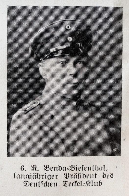 R. Benda-Biesenthal, langjähriger Präsident des Deutschen Teckel-Klub